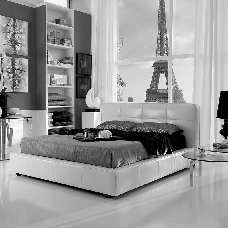 letto-matrimoniale-contenitore-beige-flow-fusion-design-bianco-e-nero